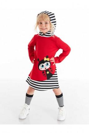 فستان اطفال بناتي بطبعة ومخطط