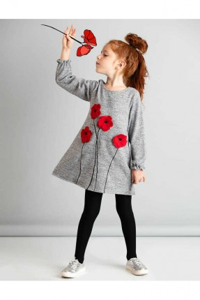 فستان اطفال بناتي مزين بالازهار
