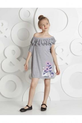 فستان اطفال بناتي بطبعة بطة