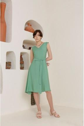 فستان سبور حفر - اخضر