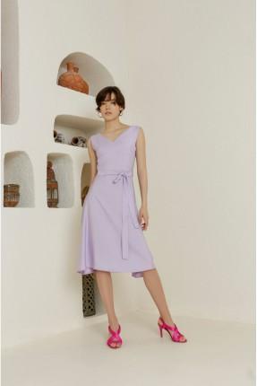 فستان سبور بياقة V - موف