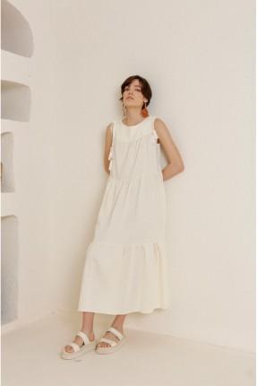 فستان سبور بشراشيب - بيج