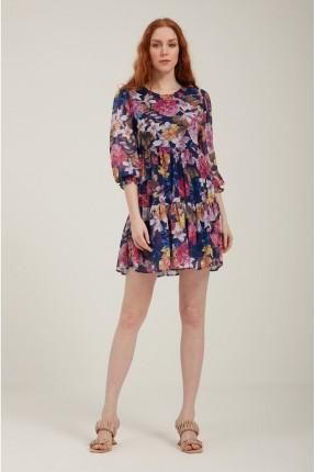 فستان سبور مورد - ازرق