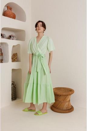 فستان سبور كاروهات - اخضر