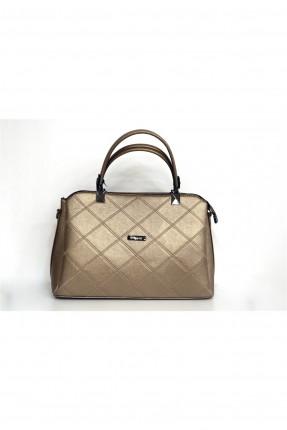 حقيبة يد نسائية مطرزة - ذهبي
