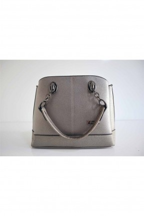 حقيبة يد نسائية بسلسلة - رمادي