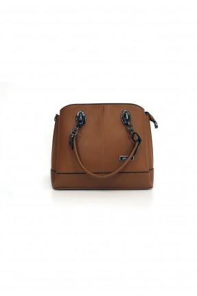 حقيبة يد نسائية بسلسلة سادة اللون