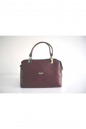 حقيبة يد نسائية مطرزة - بوردو