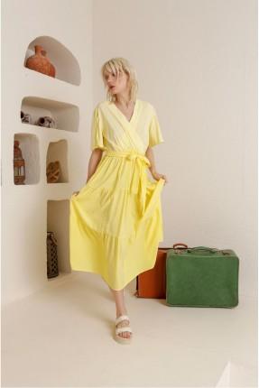 فستان سبور كاروهات - اصفر