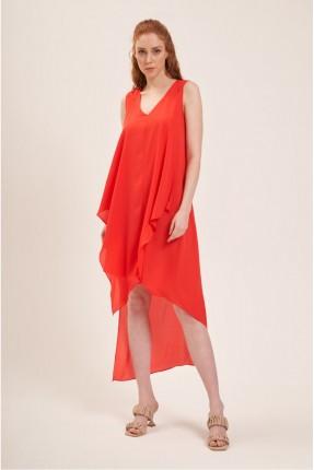 فستان سبور حفر - برتقالي
