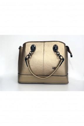 حقيبة يد نسائية بسلسلة - ذهبي