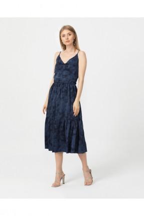 فستان رسمي حفر - كحلي