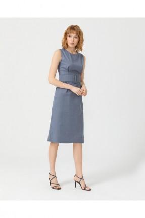 فستان رسمي حفر - ازرق