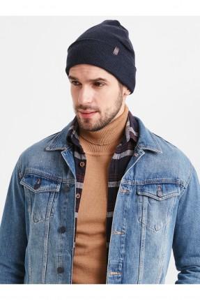 قبعة رجالية سادة اللون - كحلي