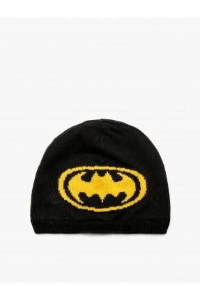 قبعة بيبي ولادي بنقشة باتمان - اسود