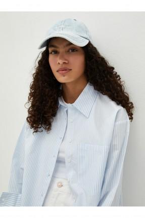 قبعة نسائية جينز - ازرق