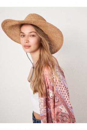 قبعة نسائية بحبل - بيج