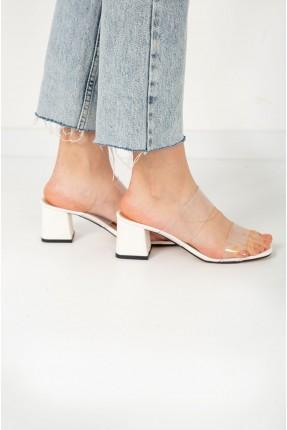 حذاء نسائي شفاف - ابيض