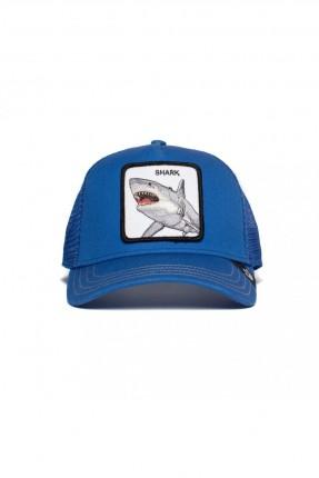 قبعة رجالية بطبعة شارك - كحلي