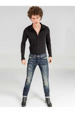 بنطال جينز رجالي موديل ممزق