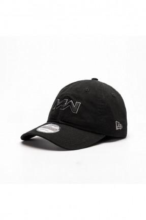 قبعة رجالية بنقشة كتابة - اسود