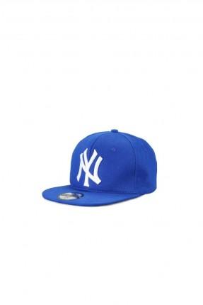 قبعة رجالية بنقشة كتابة - ازرق