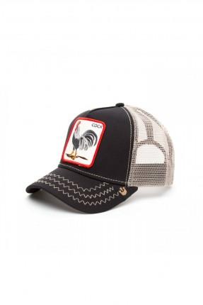 قبعة رجالية بشبك - اسود