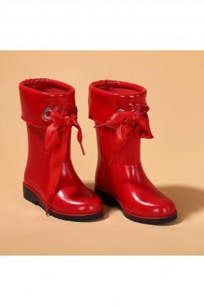 جزمة اطفال بناتي مطرية - احمر