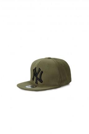 قبعة رجالية بنقشة - زيتي