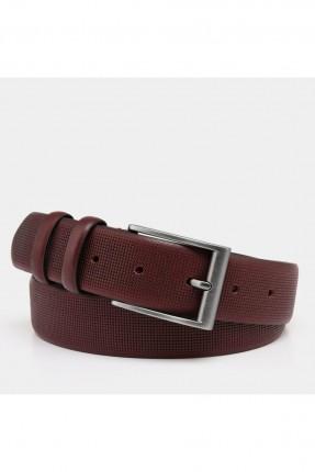 حزام رجالي منقش - خمري