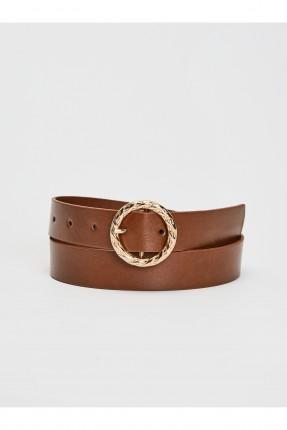 حزام اطفال بناتي جلد ببكلة دائرية