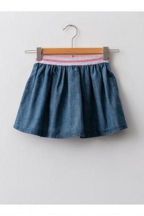 تنورة بيبي بناتي جينز بخصر مرن