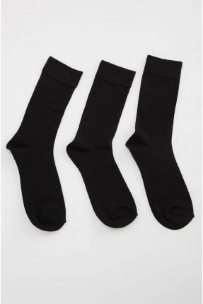 جوارب رجالية سادة اللون عدد 3