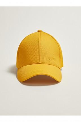قبعة اطفال ولادي سادة اللون - اصفر