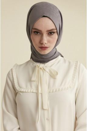 حجاب تركي سادة - رمادي