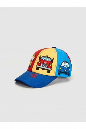 قبعة اطفال ولادي بطبعة سيارات