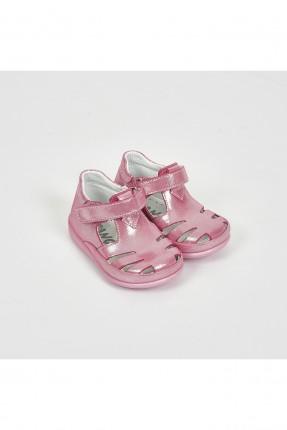 حذاء بيبي بناتي بفتحات - زهري