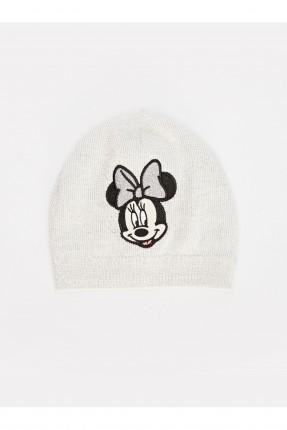 قبعة بيبي بناتي بطبعة ميكي ماوس - ابيض