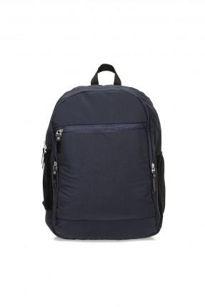 حقيبة ظهر رجالية سادة اللون - كحلي