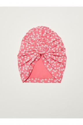 قبعة بيبي بناتي بطبعة نجوم - زهري