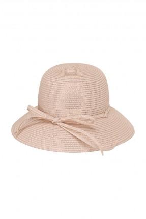 قبعة نسائية قش - زهري