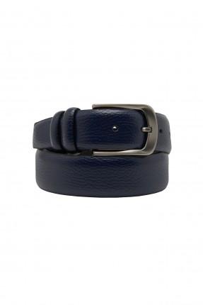 حزام رجالي سادة اللون - كحلي