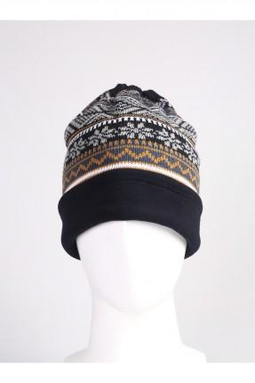 قبعة رجالية بزخرفة ملونة