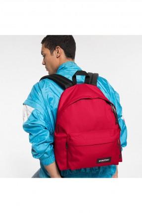 حقيبة ظهر رجالية مزينة بجيب من الامام - احمر