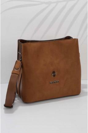 حقيبة يد نسائية شامواه سادة اللون
