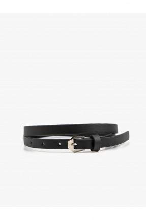 حزام نسائي جلد - اسود