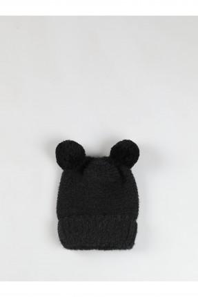 قبعة نسائية سادة اللون - اسود