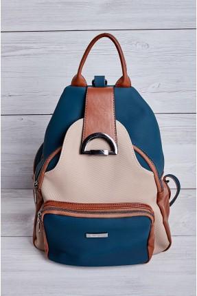 حقيبة ظهر نسائية بجيب بعدة الوان