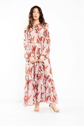 فستان نسائي مزين برسمة