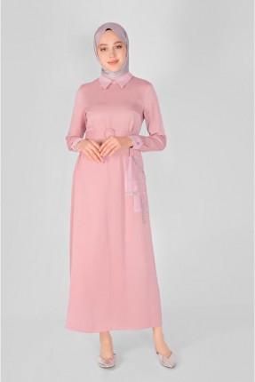 فستان سبور بجيب - وردي